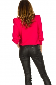 Notes Du Nord |  Sweater with shoulder details Simone | pink  | Picture 7