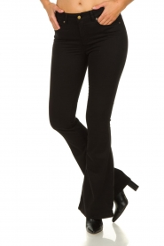 Lois Jeans |  L34 - Flared jeans Lea Soft Teal | black  | Picture 4