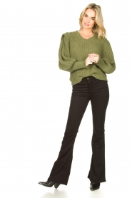 Lois Jeans |  L34 - Flared jeans Lea Soft Teal | black  | Picture 2