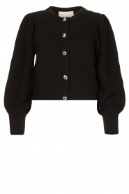 Notes Du Nord |  Cardigan with balloon sleeves Savanna | black  | Picture 1