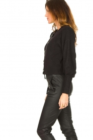 Notes Du Nord |  Cardigan with balloon sleeves Savanna | black  | Picture 5