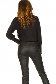 Notes Du Nord |  Cardigan with balloon sleeves Savanna | black  | Picture 6