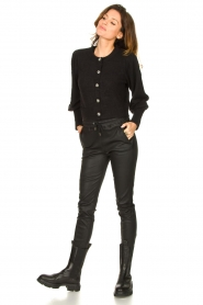 Notes Du Nord |  Cardigan with balloon sleeves Savanna | black  | Picture 3