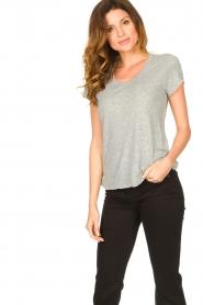 American Vintage |  Basic round neck T-shirt Jacksonville | grey  | Picture 4