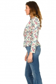 Notes Du Nord |  Floral wrap top Shelly | light green  | Picture 5