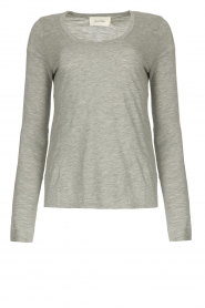 American Vintage |  Basic round neck l/s T-shirt Jacksonville | grey  | Picture 1