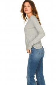American Vintage |  Basic round neck l/s T-shirt Jacksonville | grey  | Picture 4