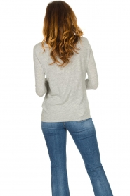 American Vintage |  Basic round neck l/s T-shirt Jacksonville | grey  | Picture 5