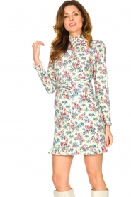 Notes Du Nord |  Floral dress Shelly | light green  | Picture 5