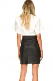Dante 6 |  Leather skirt Eshvi | black  | Picture 6