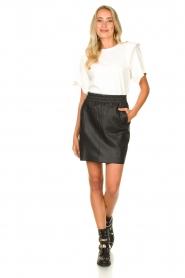 Dante 6 |  Leather skirt Eshvi | black  | Picture 3