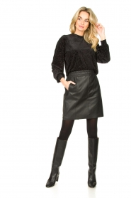Dante 6 |  Leather skirt Eshvi | black  | Picture 3