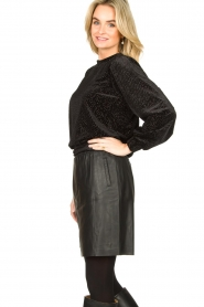 Dante 6 |  Leather skirt Eshvi | black  | Picture 4