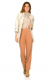 JC Sophie |  Wide pants with side pockets Fitou | pink  | Picture 2