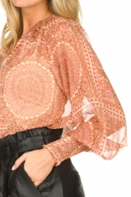 JC Sophie |  Printed blouse Fenn | pink  | Picture 6