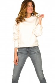 Dante 6 |  Cotton sweater with text print Love Me | natural  | Picture 4