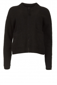 JC Sophie |  Knitted cardigan with zipper Farah | black  | Picture 1