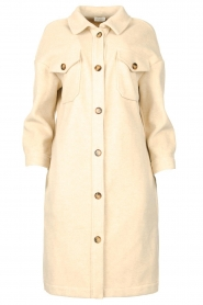 JC Sophie |  Oversized coat Fiona | beige  | Picture 1