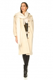 JC Sophie |  Oversized coat Fiona | beige  | Picture 3