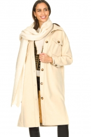JC Sophie |  Oversized coat Fiona | beige  | Picture 2