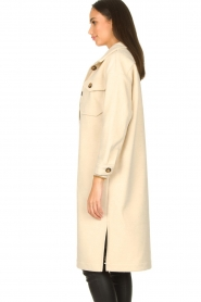 JC Sophie |  Oversized coat Fiona | beige  | Picture 5