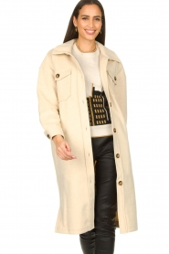 JC Sophie |  Oversized coat Fiona | beige  | Picture 4