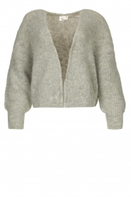 American Vintage |  Short knitted cardigan East | grey  | Picture 1