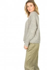 American Vintage |  Short knitted cardigan East | grey  | Picture 6