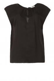 JC Sophie |  Top with shoulder pads Fera | black  | Picture 1
