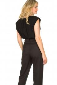 JC Sophie |  Top with shoulder pads Fera | black  | Picture 6
