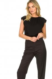JC Sophie |  Top with shoulder pads Fera | black  | Picture 4