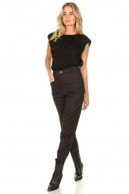 JC Sophie |  Top with shoulder pads Fera | black  | Picture 3