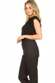JC Sophie |  Top with shoulder pads Fera | black  | Picture 5