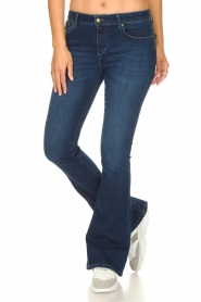 Lois Jeans |  L32 High waist flared jeans Raval | dark blue  | Picture 4