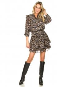 Sofie Schnoor |  Floral skirt Lara | black  | Picture 4