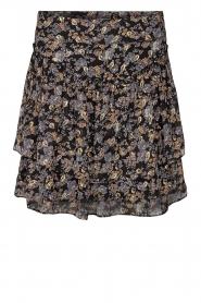 Sofie Schnoor |  Floral skirt Lara | black  | Picture 1