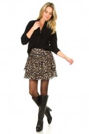 Sofie Schnoor |  Floral skirt Lara | black  | Picture 3