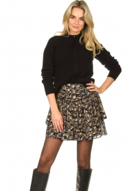 Sofie Schnoor |  Floral skirt Lara | black  | Picture 2