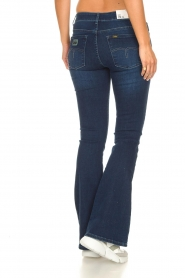 Lois Jeans |  L34 High waist flared jeans Raval | dark blue  | Picture 5