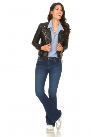 Lois Jeans |  L34 High waist flared jeans Raval | dark blue  | Picture 7