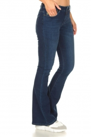 Lois Jeans |  L34 High waist flared jeans Raval | dark blue  | Picture 4