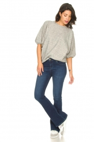 Lois Jeans |  L34 High waist flared jeans Raval | dark blue  | Picture 2