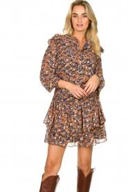 Sofie Schnoor |  Floral skirt Lara | blue  | Picture 2