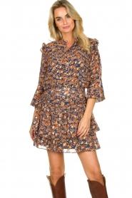 Sofie Schnoor |  Floral skirt Lara | blue  | Picture 4