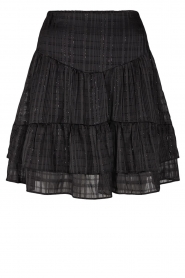 Sofie Schnoor |  Lurex printed skirt Polly | black  | Picture 1