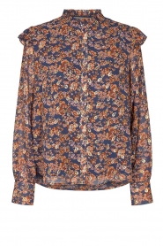 Sofie Schnoor |  Floral blouse Mai | blue  | Picture 1