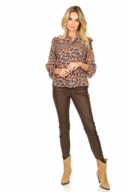 Sofie Schnoor |  Floral blouse Mai | blue  | Picture 3