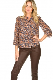 Sofie Schnoor |  Floral blouse Mai | blue  | Picture 2