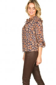 Sofie Schnoor |  Floral blouse Mai | blue  | Picture 6
