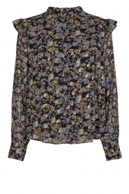 Floral blouse Mai | black